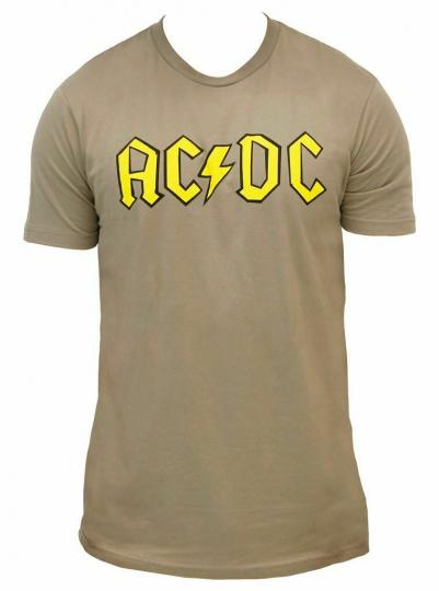Adult Men's Australian Rock Band AC/DC Logo Gray T-shirt Tee