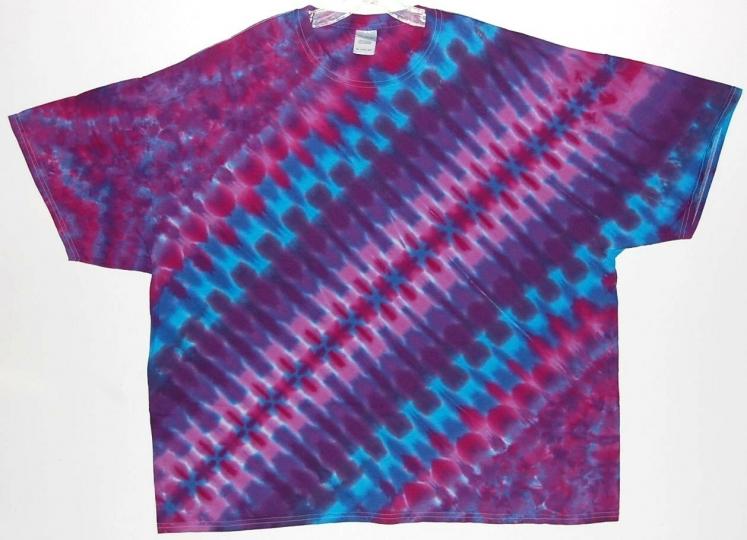 Adult S/S TIE DYE Purple DNA / TShirt hippie 2X 3X 4X gypsy hippie grateful dead