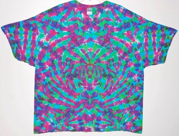 Adult TIE DYE Electric Blotter T-shirt 5X 6X Grateful Dead hippie art plus size