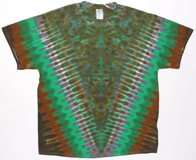 Adult TIE DYE Green V Blotter S/S T-Shirt 5X 6X grateful dead art hippie