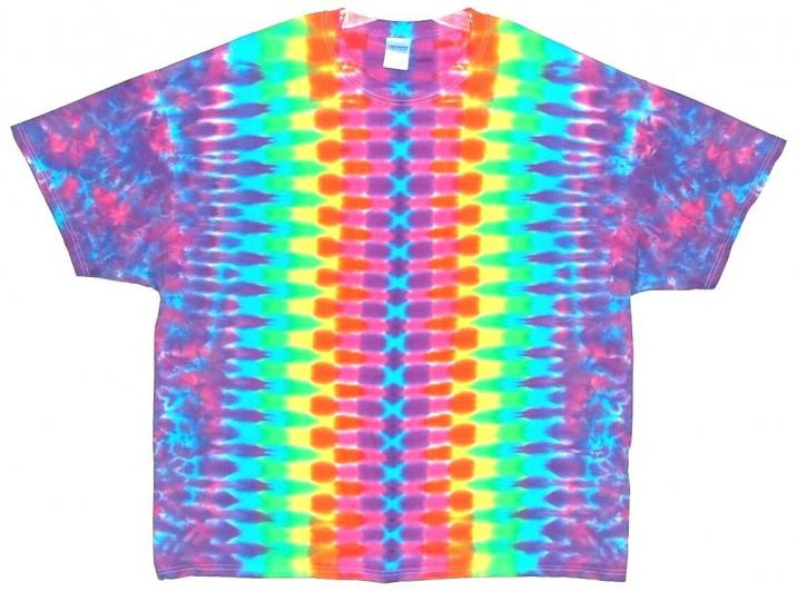 Adult TIE DYE Neon Rainbow DNA T Shirt art 5X 6X hippie furthur grateful dead