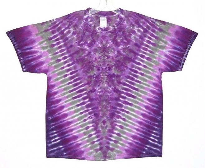 Adult TIE DYE Purple V Blotter s/s T Shirt small medium large XL grateful dead