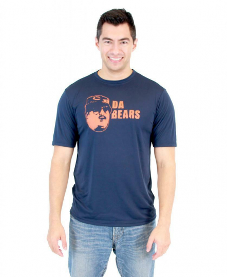 Adult TV Show Football Skit SNL Da Bears Navy Performance Athletic T-Shirt Tee
