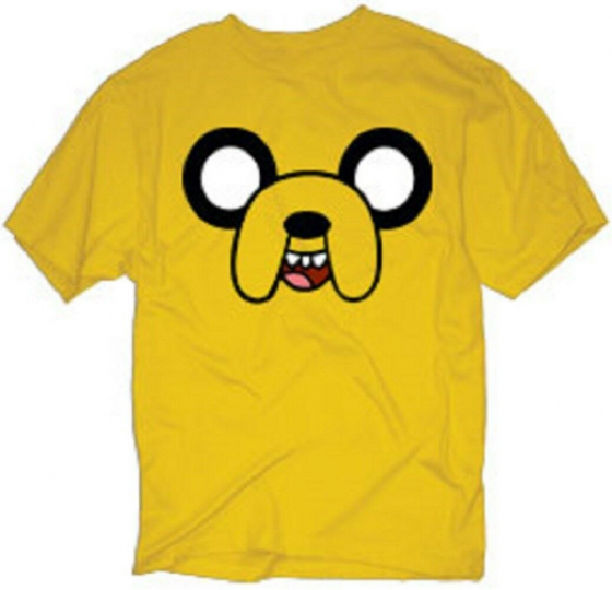 Adventure Time Jake Face Adult T-Shirt -Jake and Finn Cartoon Network Tee