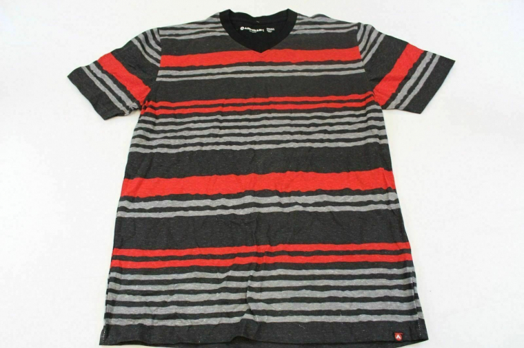 Airwalk Men's Short Sleeve Stripe V-Neck Basic T-Shirt Multi-Color CB4 Small NWT