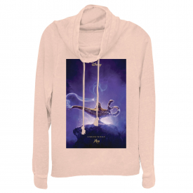 Aladdin Choose Wisely Movie Poster Juniors Graphic Cowl Neck Sweatshirt
