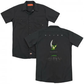 Alien Movie POSTER Licensed Adult Dickies Work Shirt All Sizes