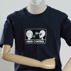 Alien Workshop Skateboards Mind Control Navy Blue T-Shirt