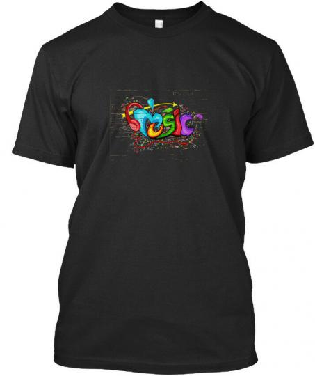 American Sir Graffiti - Music Premium Tee T-Shirt