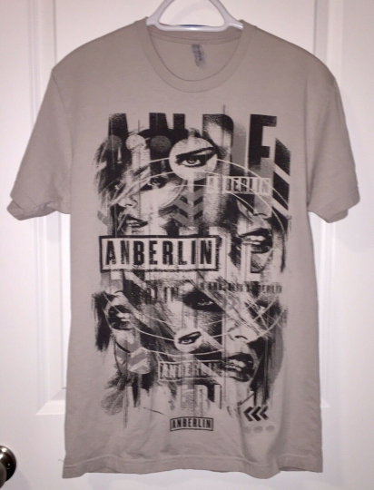 Anberlin SS T-shirt Adult M 100% Cotton Rock Music Emo Free Shipping!