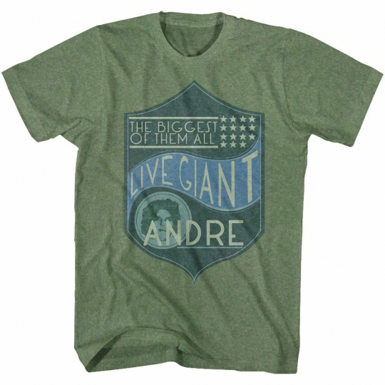 Andre The Giant Biggest Of Them All Green T-Shirt