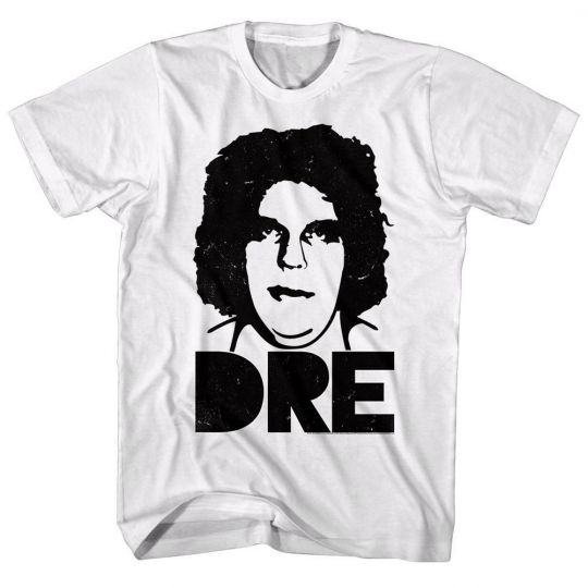 Andre the Giant Big Head Obey Face Mens T Shirt Vintage Wrestling Champion White