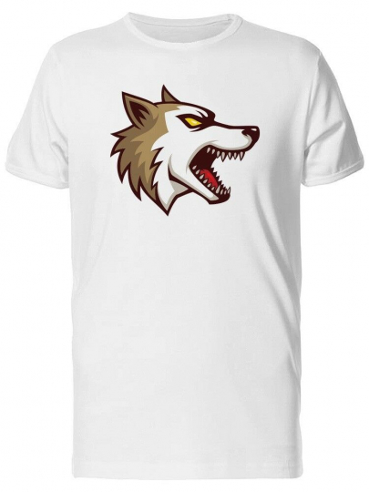 Angry Dog Cartoon Men's Tee -Image by Shutterstock