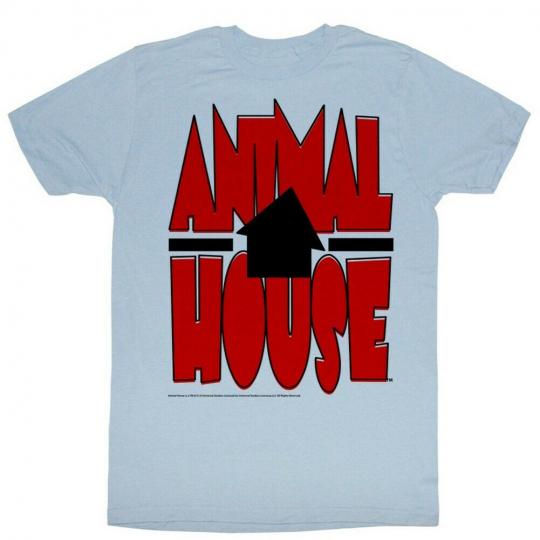 Animal House Movie Tilted House Adult T-Shirt Tee