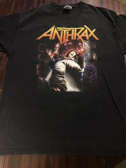 Anthrax Vintage Tshirt Mens Large