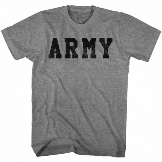 Army Army Graphite Heather Adult T-Shirt