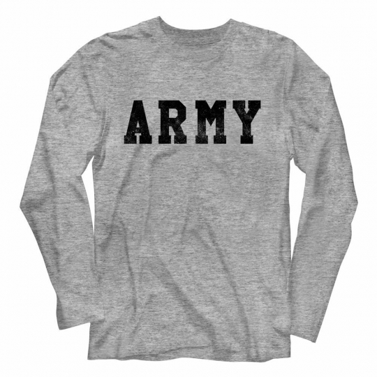 Army Army Gray Heather Adult Long Sleeve T-Shirt