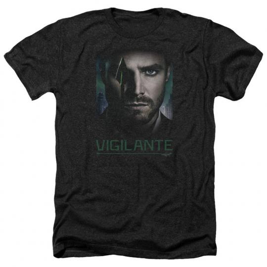 Arrow TV Show GOOD EYE VIGILANTE Green Arrow Adult Heather T-Shirt All Sizes