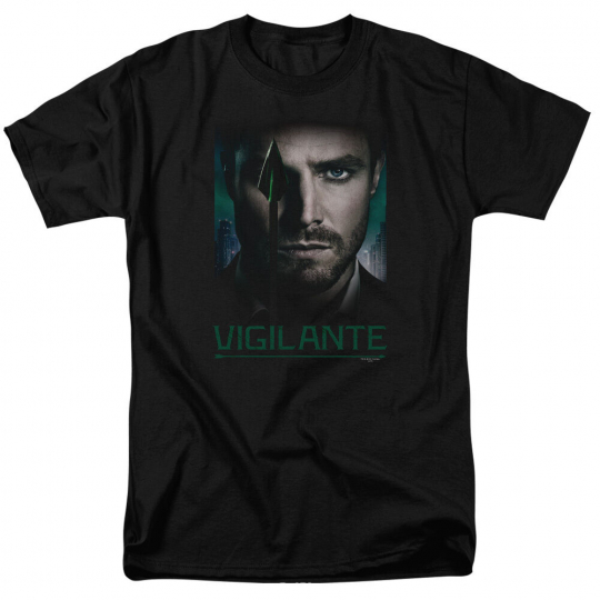 Arrow TV Show GOOD EYE VIGILANTE Green Arrow Licensed Adult T-Shirt All Sizes