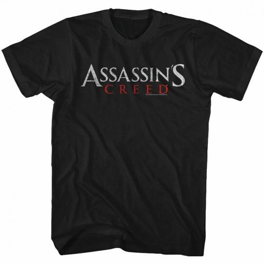 Assassin's Creed AC Logo Black Adult T-Shirt