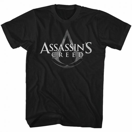 Assassin's Creed Logo Symbol Black Adult T-Shirt