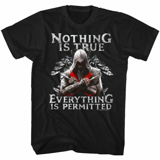 Assassin's Creed True Permitted Black Adult T-Shirt