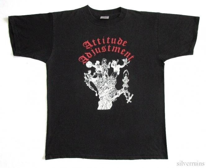 Attitude Adjustment Vintage T Shirt 1991 Out Of Hand Tour XL Hardcore Punk Band