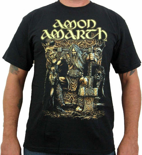 Authentic AMON AMARTH Thor Oden's Son T-Shirt S-2XL NEW