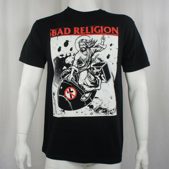 Authentic BAD RELIGION Band Atomic Jesus Punk T-Shirt S M L XL NEW