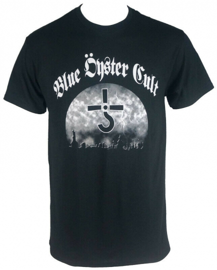 Authentic BLUE OYSTER CULT Band Graveyard Logo Black T-Shirt S-2XL NEW
