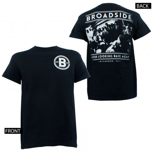 Authentic BROADSIDE Band Never Looking Back Band Photo T-Shirt 2XL NEW