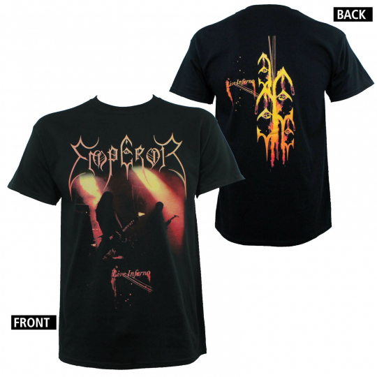 Authentic EMPEROR Live Inferno Album Cover Stage Silhouette T-Shirt S-2XL NEW