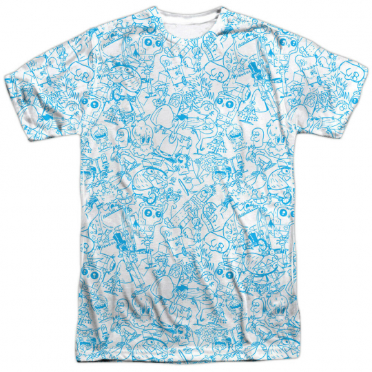 Authentic Foster's Home for Imaginary Cartoon Network Sublimation Front T-shirt