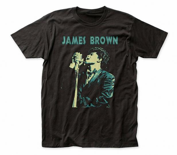 Authentic JAMES BROWN Singing Slim Fit T-Shirt S M L XL 2XL NEW