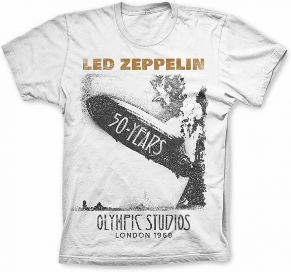 Authentic LED ZEPPELIN 50 Years Olympic Studios 1968 London T-Shirt S-4XL NEW