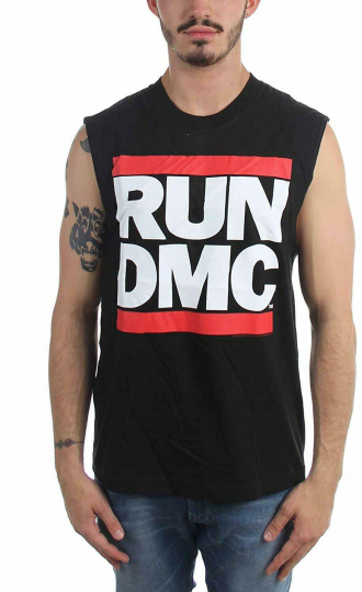 Authentic RUN DMC Classic Logo Muscle Shirt Black S M L XL 2XL NEW