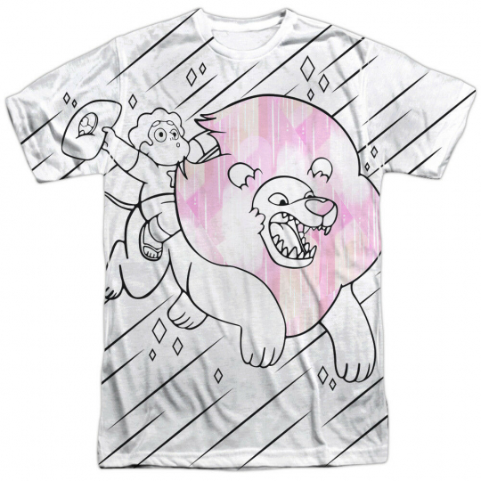 Authentic Steven Universe Stev & Lion Cartoon Network Sublimatio Front T-shirt
