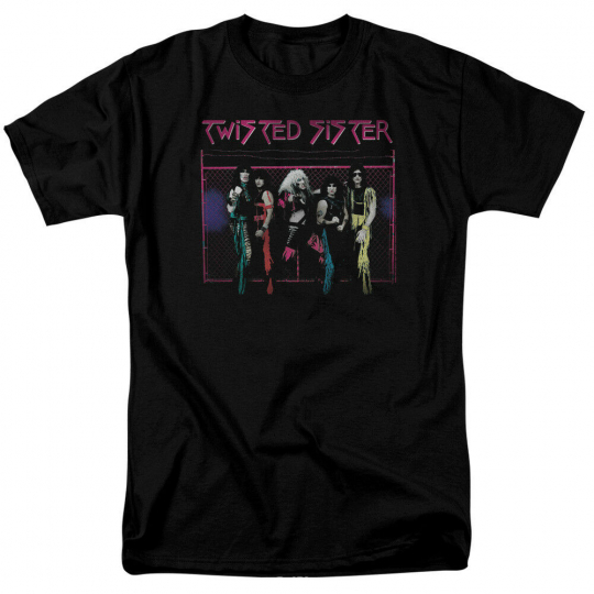 Authentic Twisted Sister Band Group Photo Neon Gate T-shirt S M L X 2X 3X 4X 5X