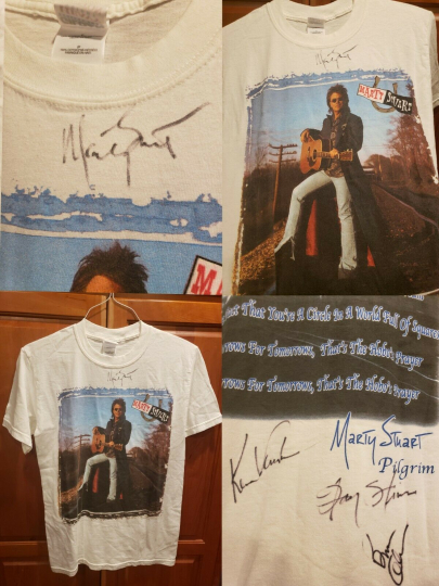 Autographed Marty Stuart Pilgrim Tour Band Shirt S Country Music Opry Bluegrass
