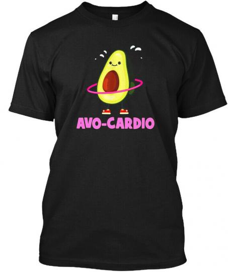 Avocardio Funny Avocado Pun Premium Tshi - Avo-cardio Hanes Tagless Tee T-Shirt