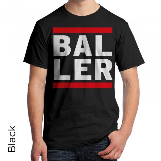 BALLER Graphic T-Shirt 80's Retro Shirt DJ Music Urban Hip Hop