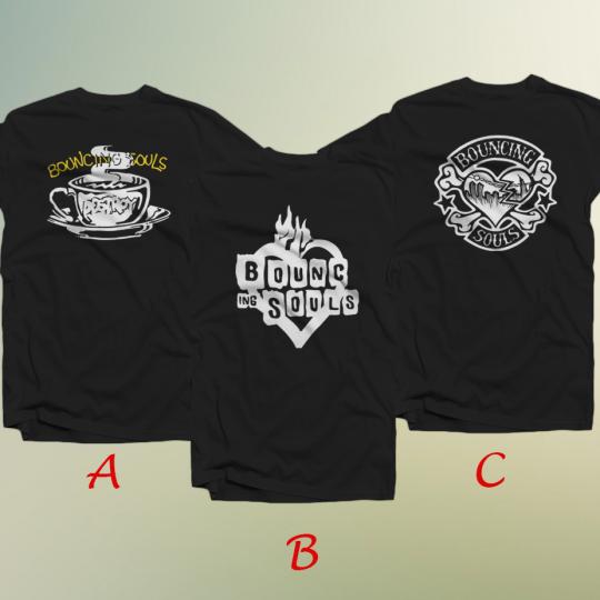 BOUNCING SOULS American Punk Rock Band Men's T-Shirt 100% Cotton