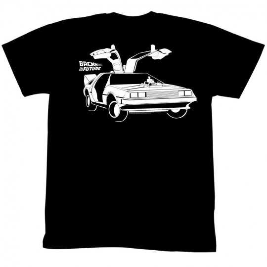 Back To The Future Movie Car Adult T-Shirt Tee