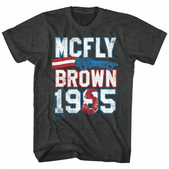 Back to the Future Marty For President Black Adult T-Shirt