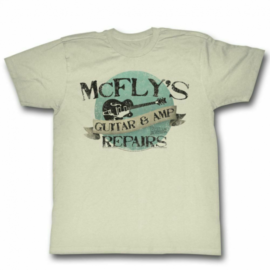 Back to the Future McFly's Natural Adult T-Shirt