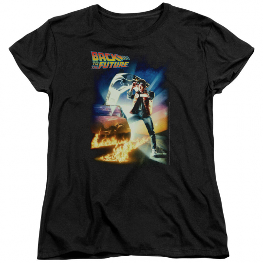 Back to the Future Movie POSTER Licensed Women's T-Shirt All Sizes