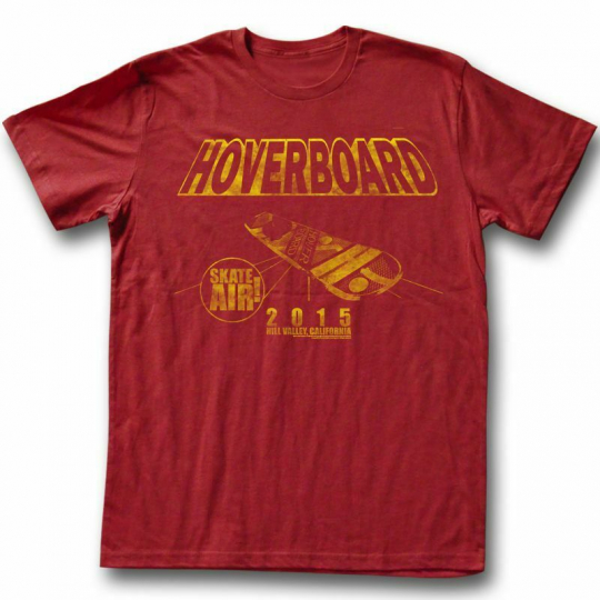 Back to the Future New Board Red Adult T-Shirt