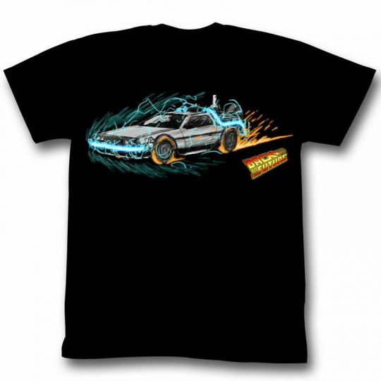 Back to the Future Time Painting Adult T-Shirt
