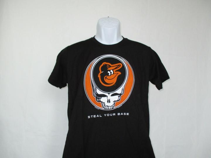 Baltimore Orioles MLB Grateful Dead Steal Your Base Baseball T-Shirt S-2XL NEW