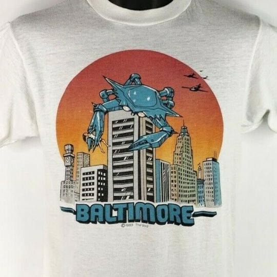 Baltimore The Void T Shirt Vintage 80s 1983 Punk Robot Crab Made In USA Medium
